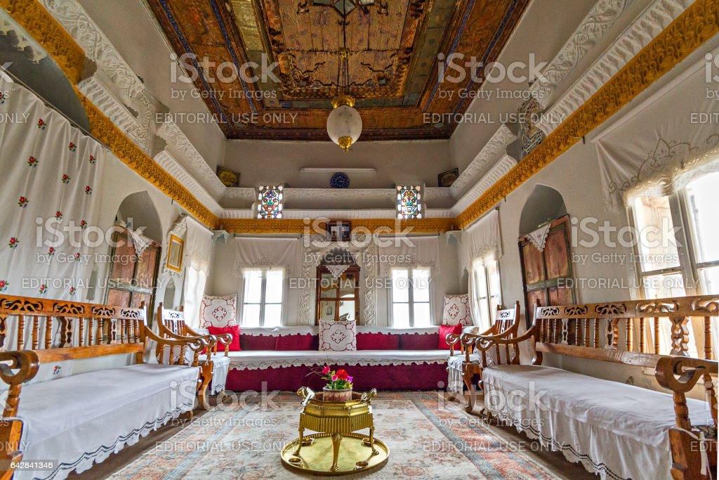 Savur, Turkey - April 10, 2014: Interior of a traditional house in Savur, Turkey. stock photo