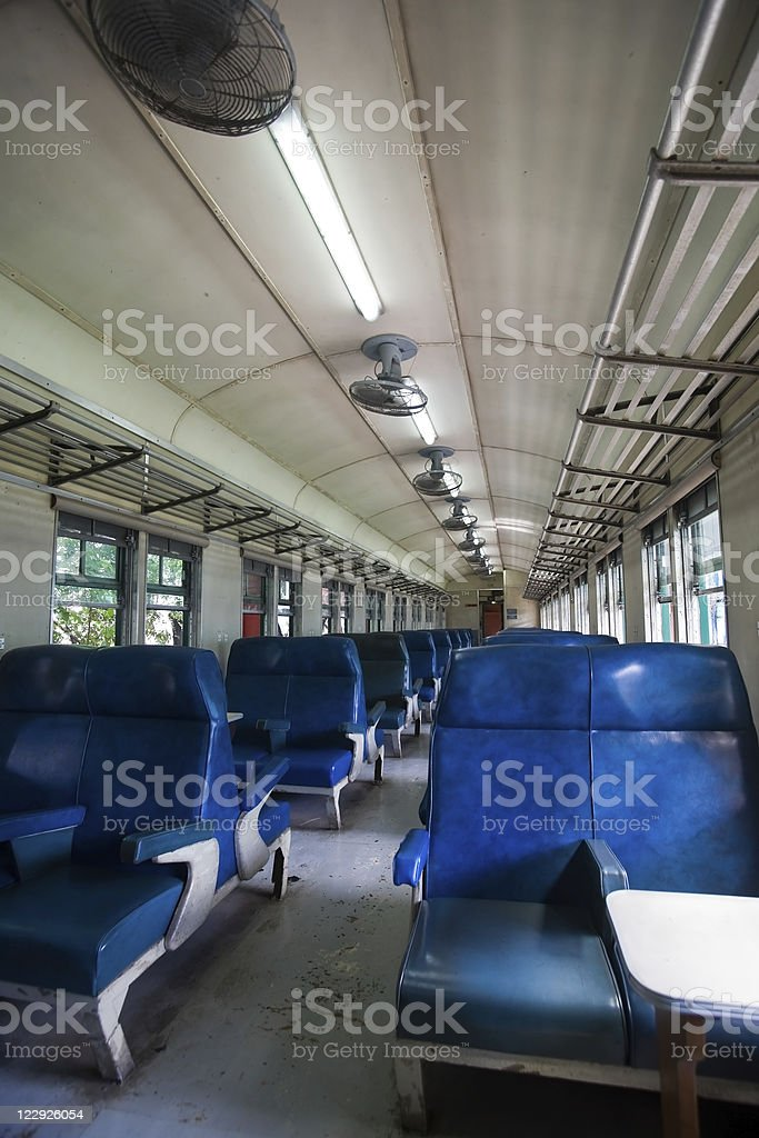Interior of a traditional train compartment royalty-free stock photo
