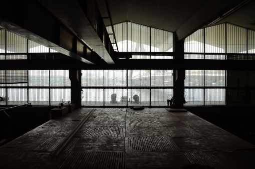 Interior of Abandon Architecture, silhouette image