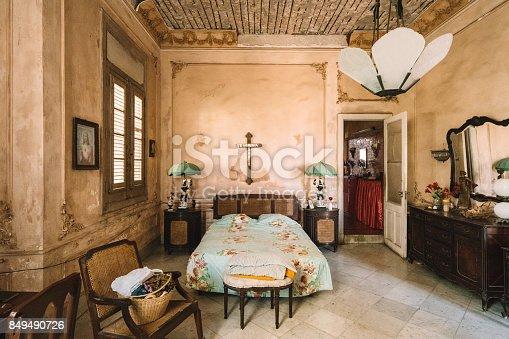 Interior of old Villa in Vedado, suburbs of Havana.