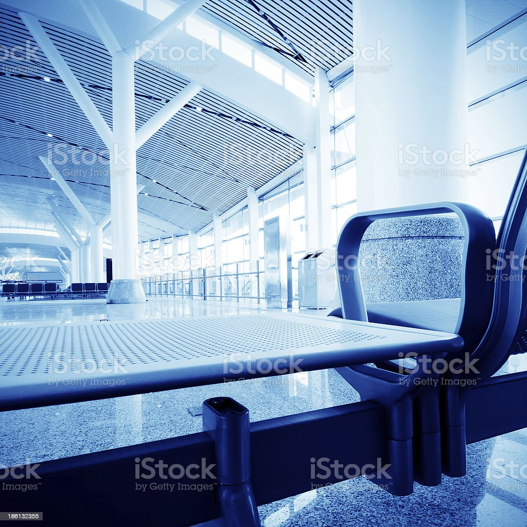 Interior of airport royalty-free stock photo