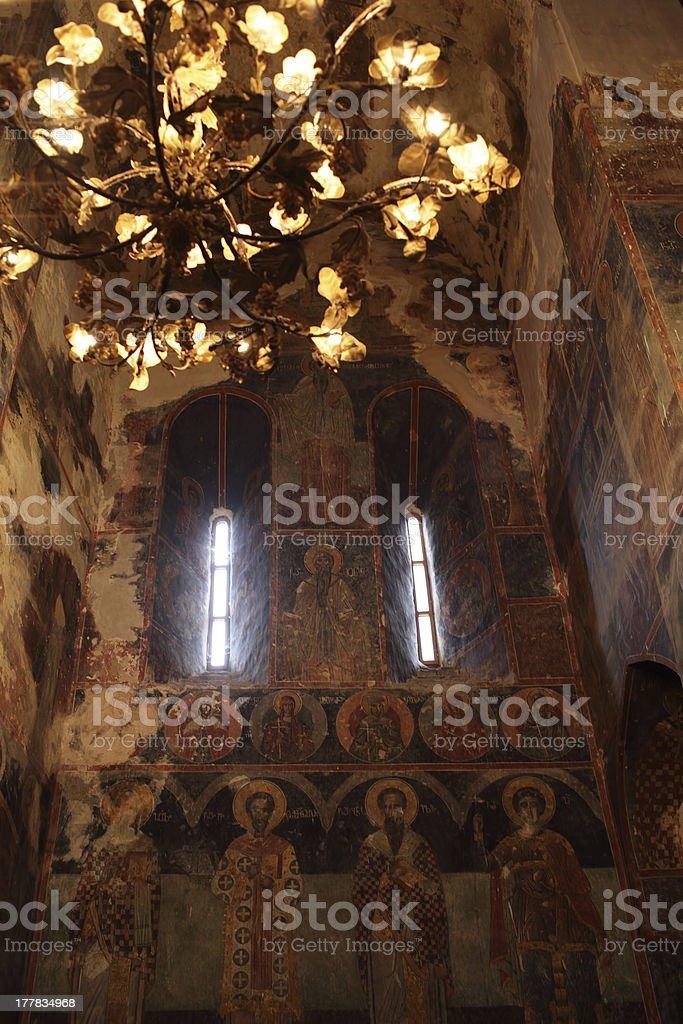 Interior of all Saints Church in Georgia royalty-free stock photo