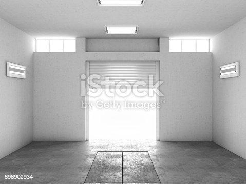 istock Interior of an empty garage 898902934
