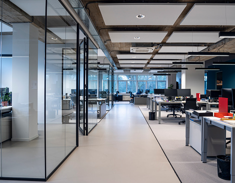 Impression of an interior of a modern office