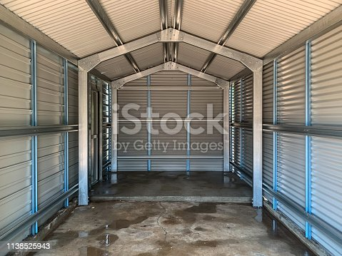 Interior of an empty new shed