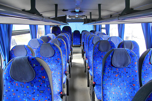 Interior of an interurban coach