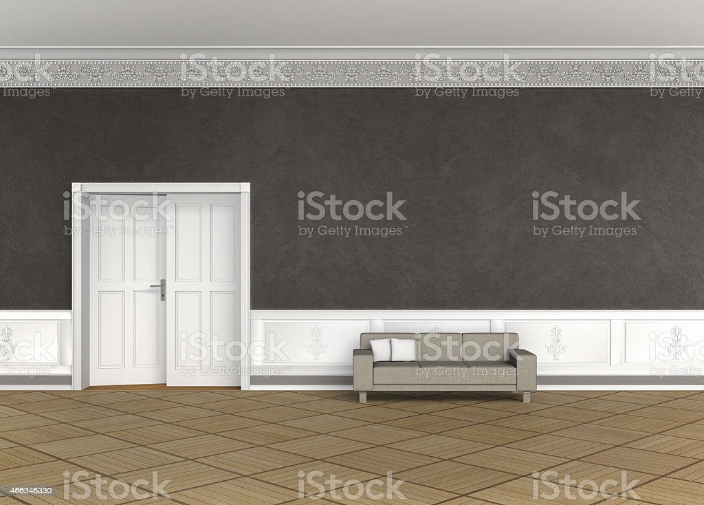 interior of an old building stock photo