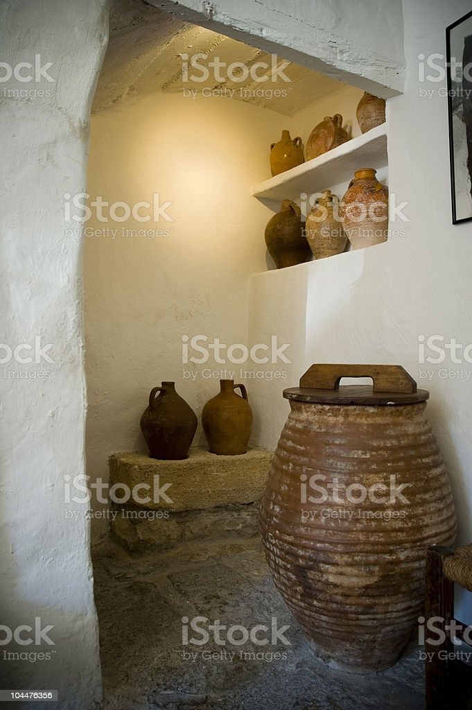 Interior of an old house in rural Spain royalty-free stock photo