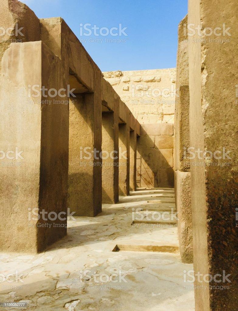 Innenraum der alten ägyptischen Ruinen – Foto