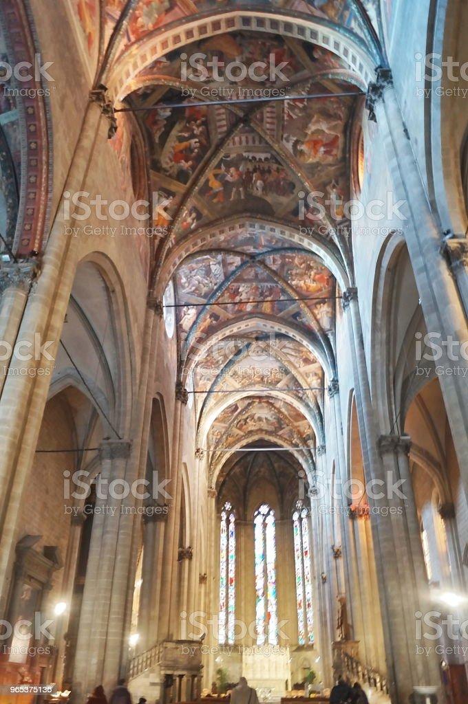 Intérieur de la cathédrale d'Arezzo - Photo de Antique libre de droits