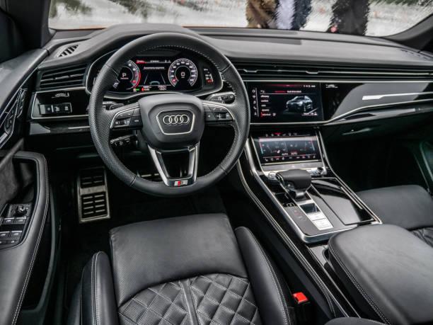 Interior of Audi Q8 stock photo