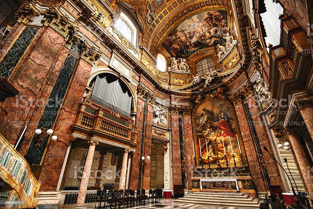 Interior of Basilica dei SS. Ambrogio e Carlo stock photo