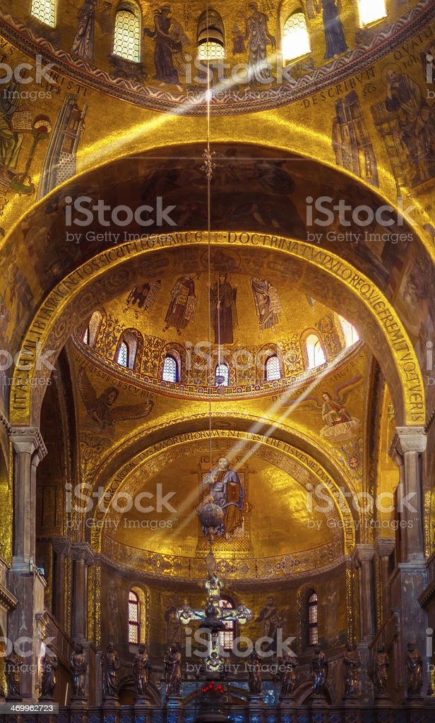 Interior of Basilica di San Marco, Venice, Italy stock photo