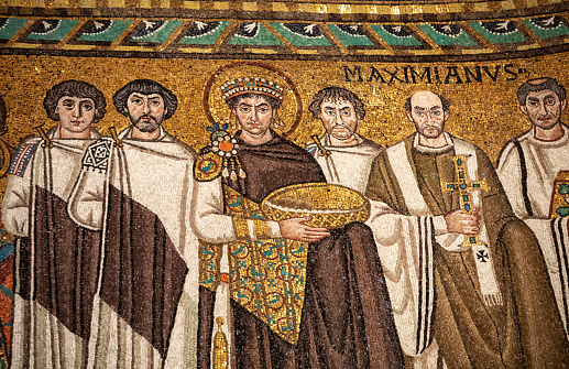 Interior of Basilica of San Vitale in Ravenna. Italy