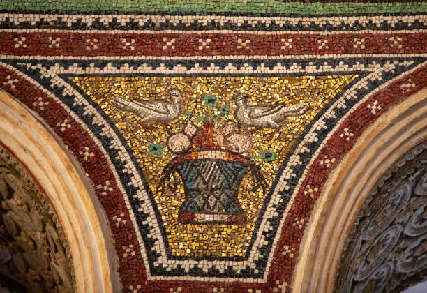 Interior of Basilica of San Vitale in Ravenna. Italy
