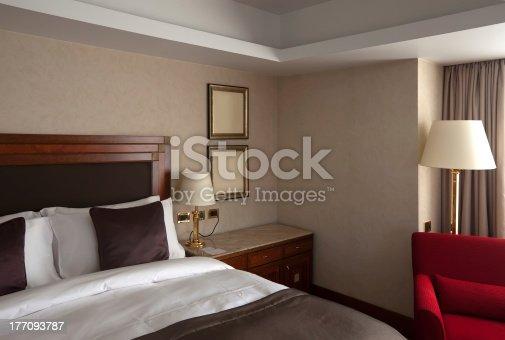 interior of  bedroom of luxury hotel suite