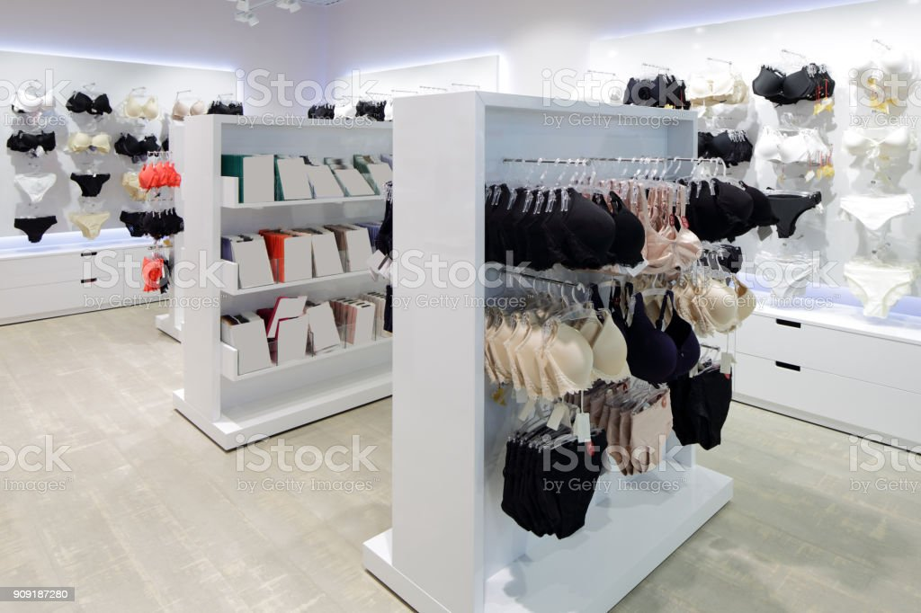 f67427ae212f Interior Of Bright Underwear Shop Stock Photo - Download Image Now ...
