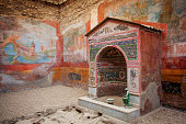 Interior of Casa della Fontana Piccola, Pompeii, Italy