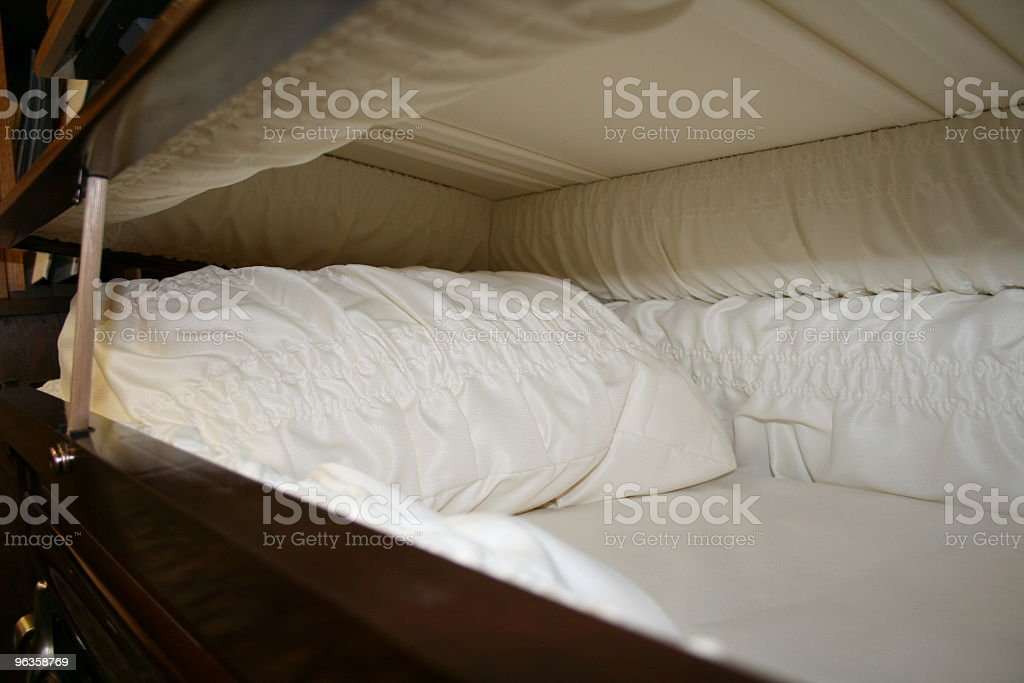 interior of casket slightly opened royalty-free stock photo
