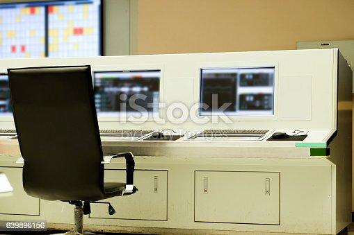 istock Interior of central control room 639896156