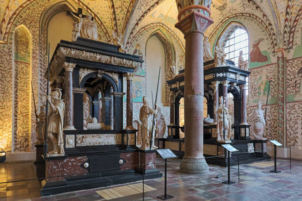 Interior of Chapel of the Magi in Roskilde Cathedral, Denmark stock photo