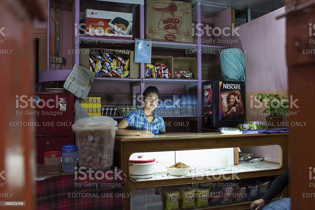 Interior of characteristic shop in Thimphu centre foto