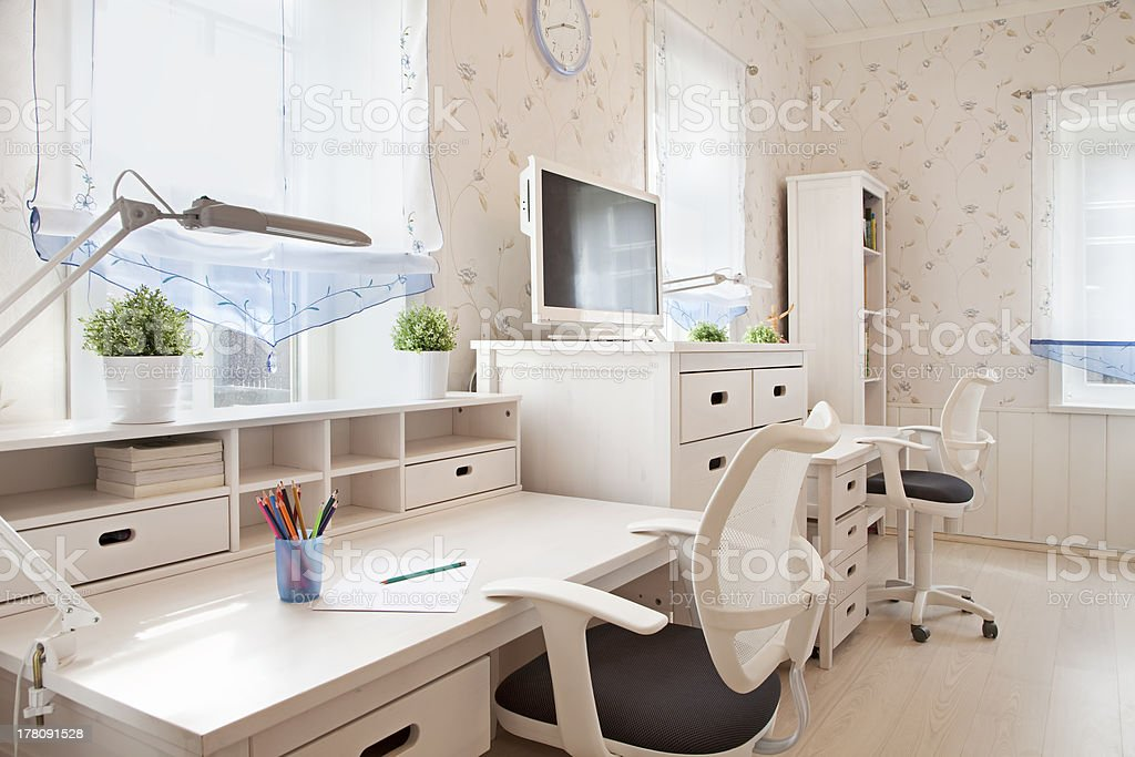 Interior of children's room stock photo