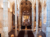 istock Interior of Church at Jeronimos Monastery 686924522
