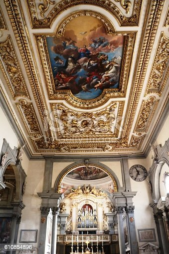 istock Interior of Church of San Marco in Florence, Tuscany Italy 610854896