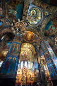 Saint Petersburg, Russia - May 18, 2019: Interior of the Church of the Savior on Spilled Blood, Saint Petersburg, Russia