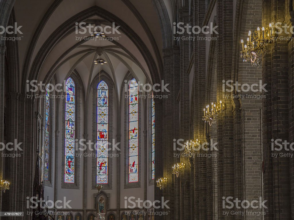 Interior of Church royalty-free stock photo