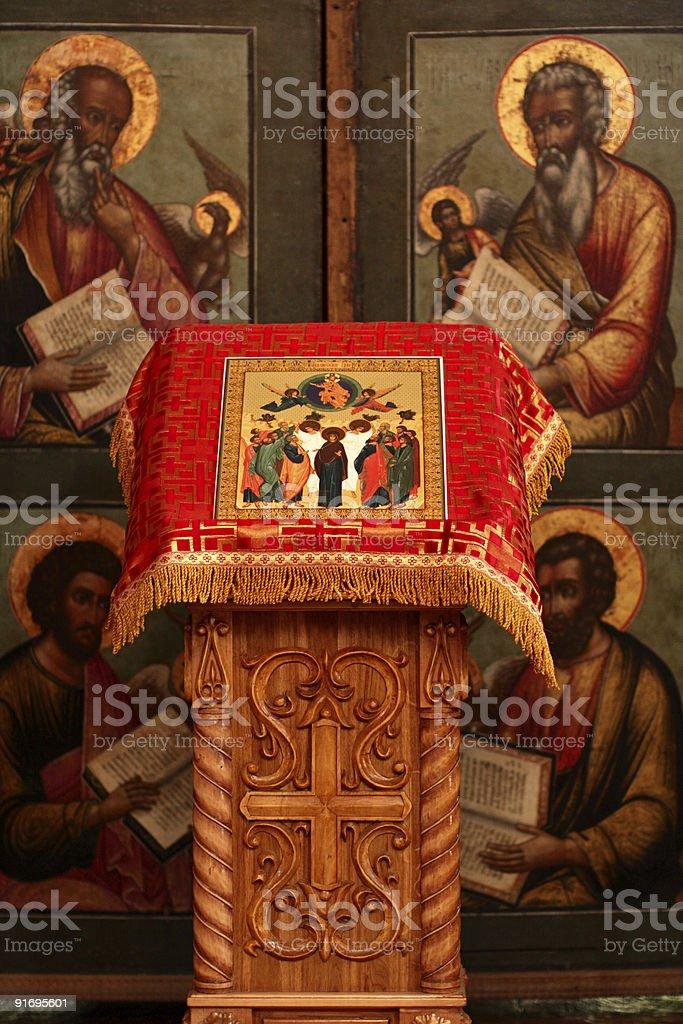 Interior of church royalty-free stock photo