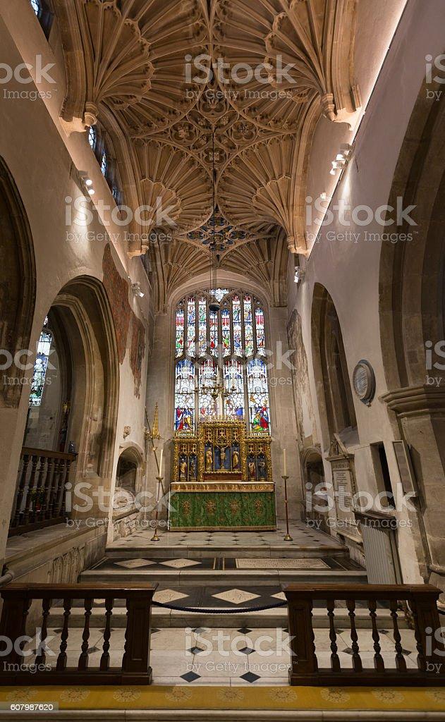 Interior of Cirencester St John the Baptist Parish Church stock photo