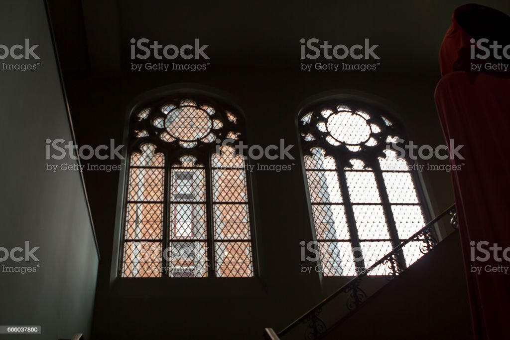 Interior of city hall, Bruges, Belgium stock photo