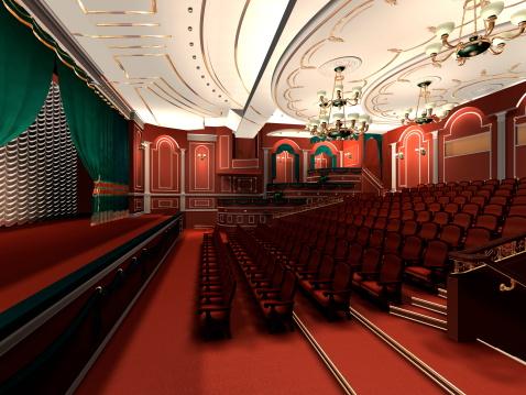 Interior of classic theater