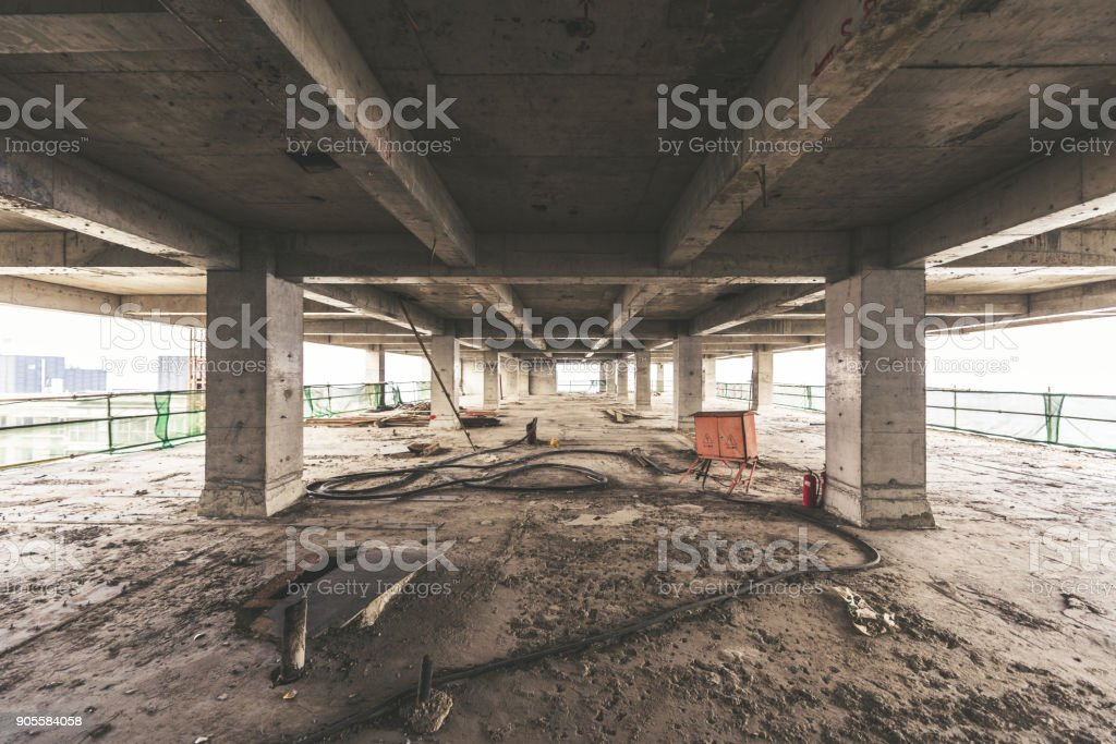 Interior of Construction stock photo