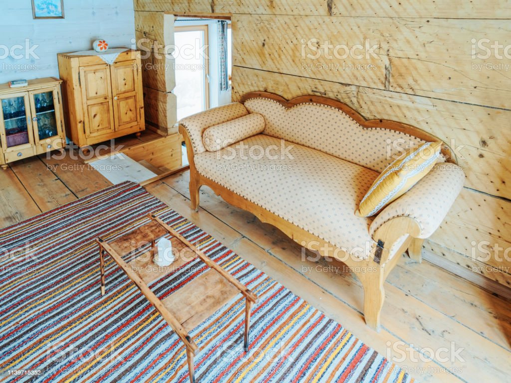 Interior Of Contemporary Wooden Living Room Design Sofa