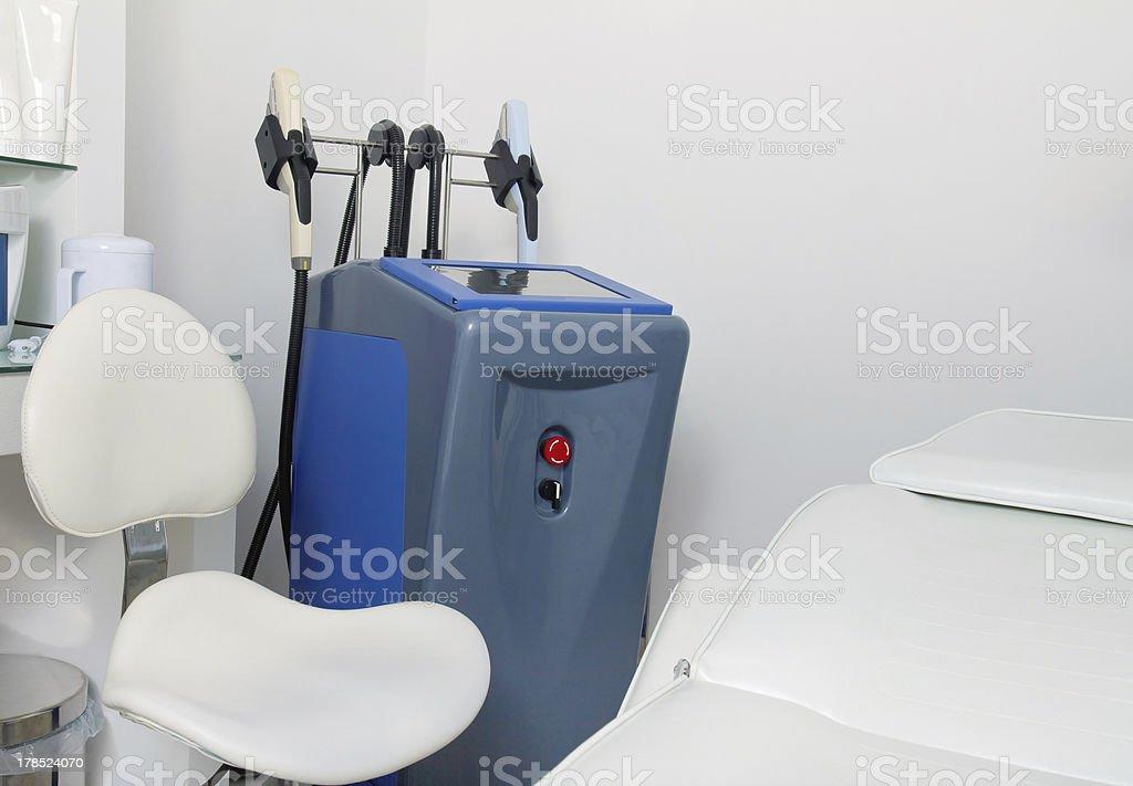 Interior of cosmetology clinic stock photo