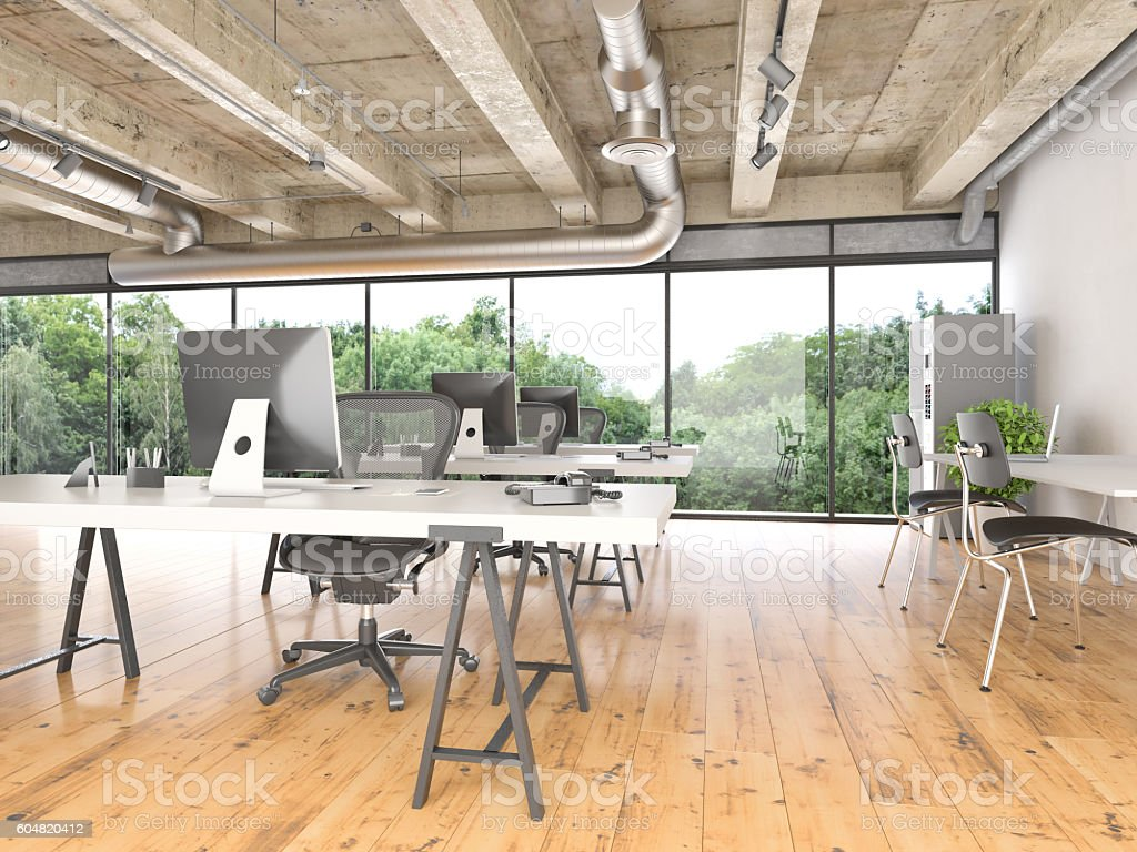 Interior of creative office stock photo