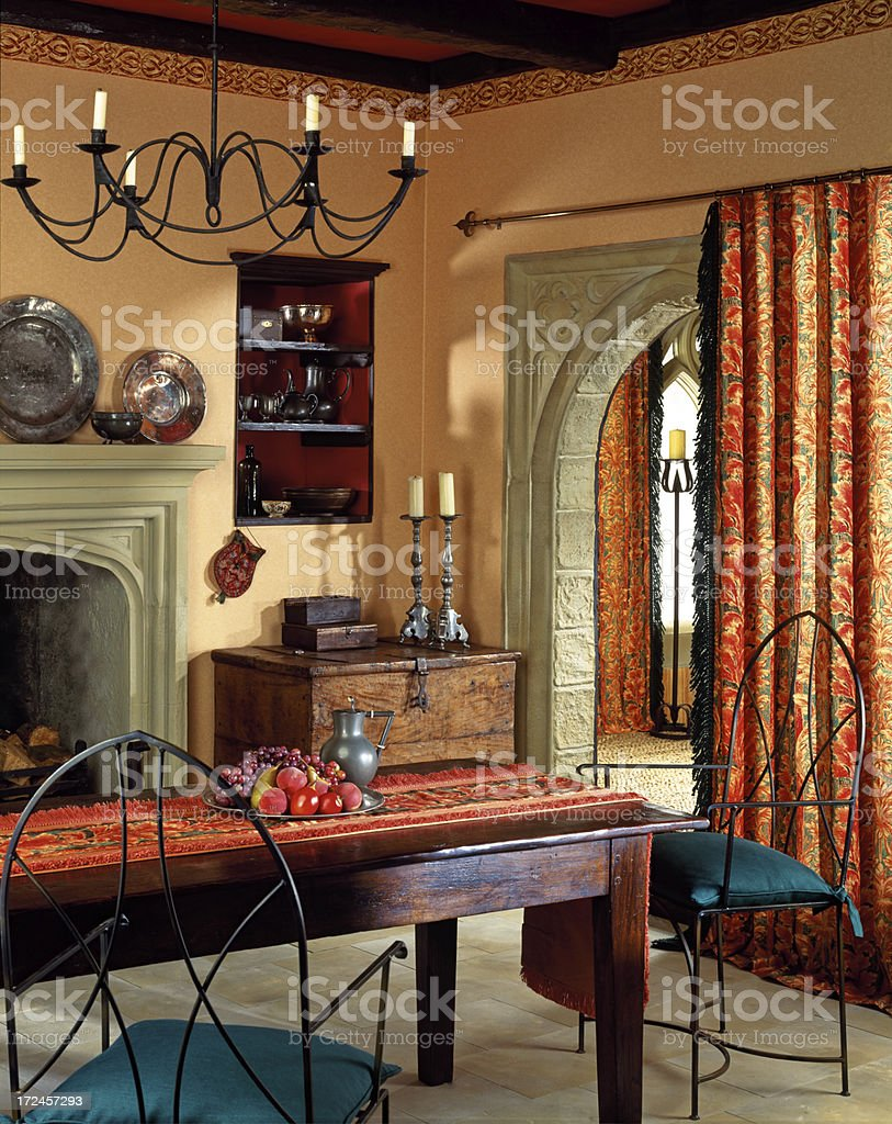 Interior of dining room stock photo