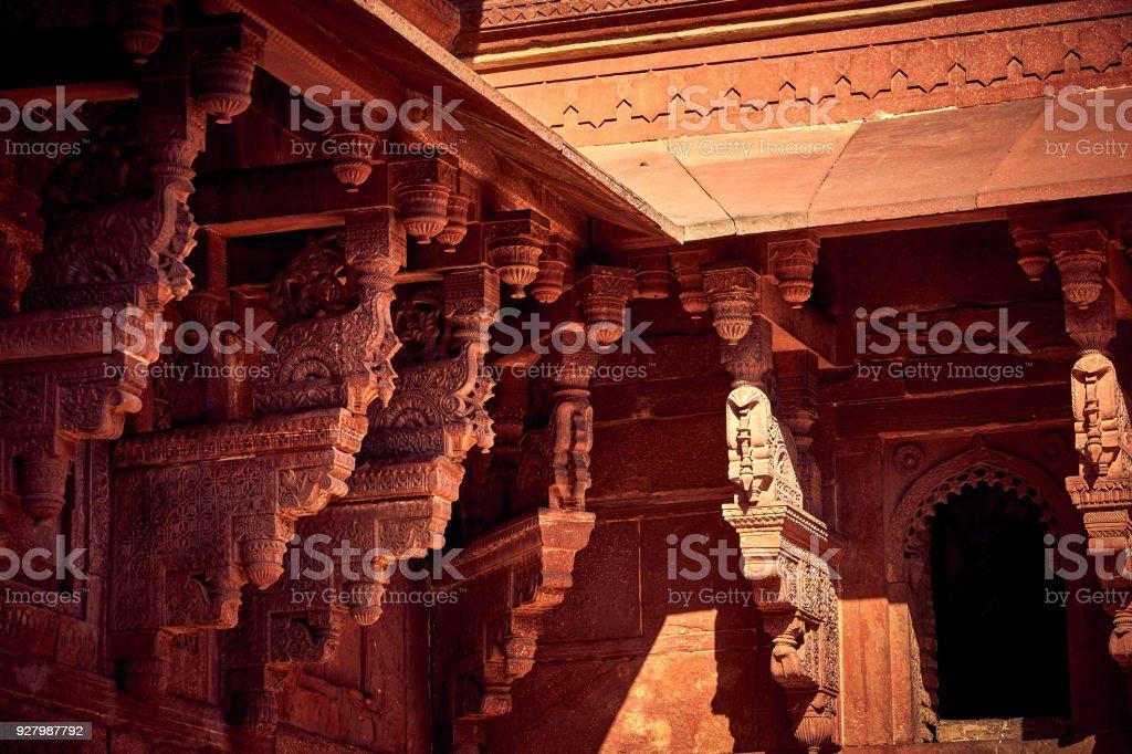 Interior Of Diwanikhas At Fatehpur Sikri India Stock Photo