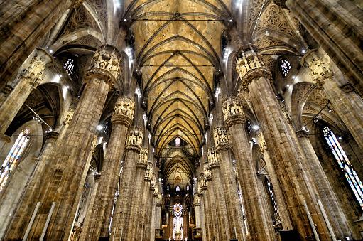 Interior of Duomo, Milan