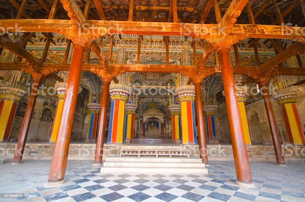 Interior Of Durbar Hall Thanjavur Maratha Palace Thanjavur