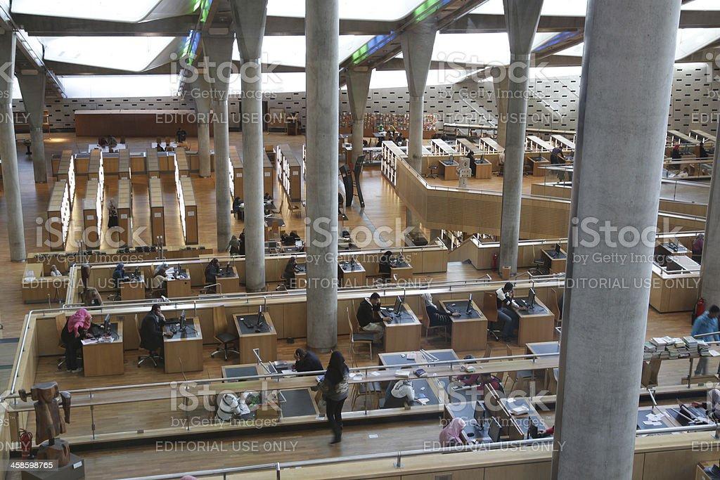 Interior da biblioteca egípcio - foto de acervo