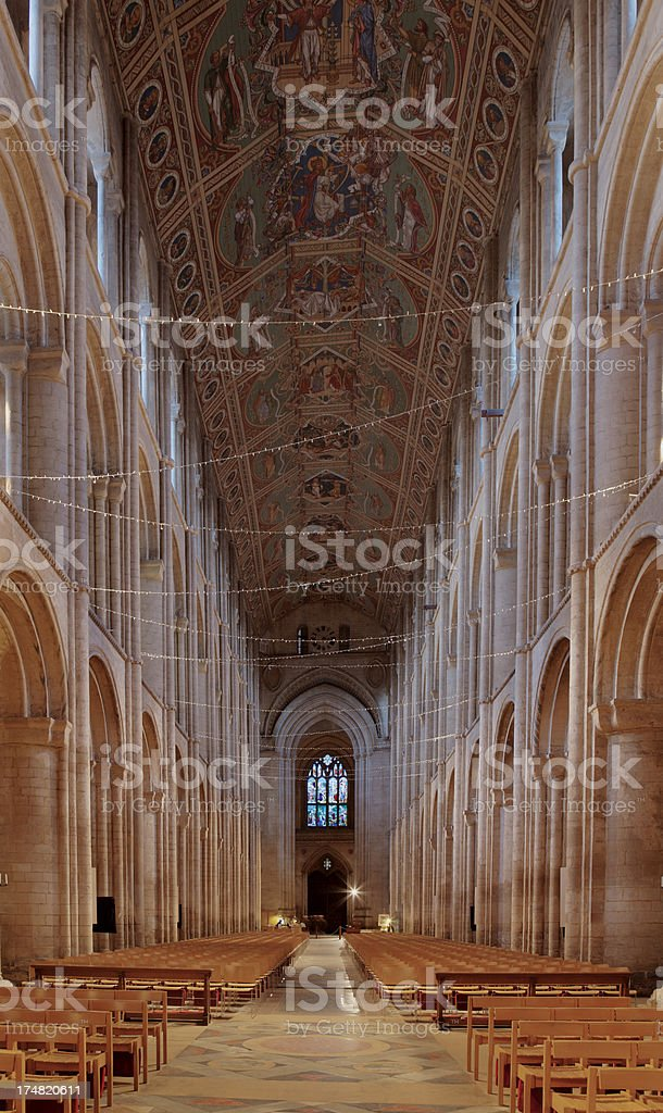 Interior of Ely Cathedral royalty-free stock photo