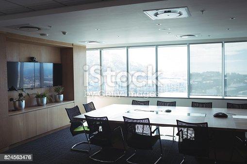 istock Interior of empty board room 824563476
