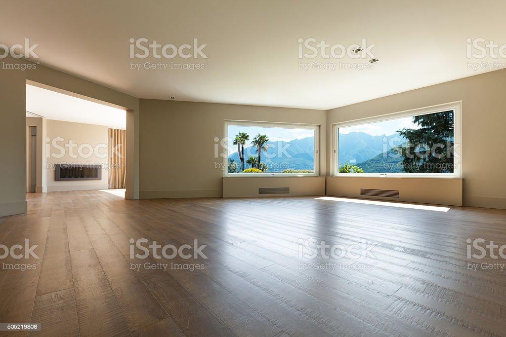 Interior of empty house stock photo