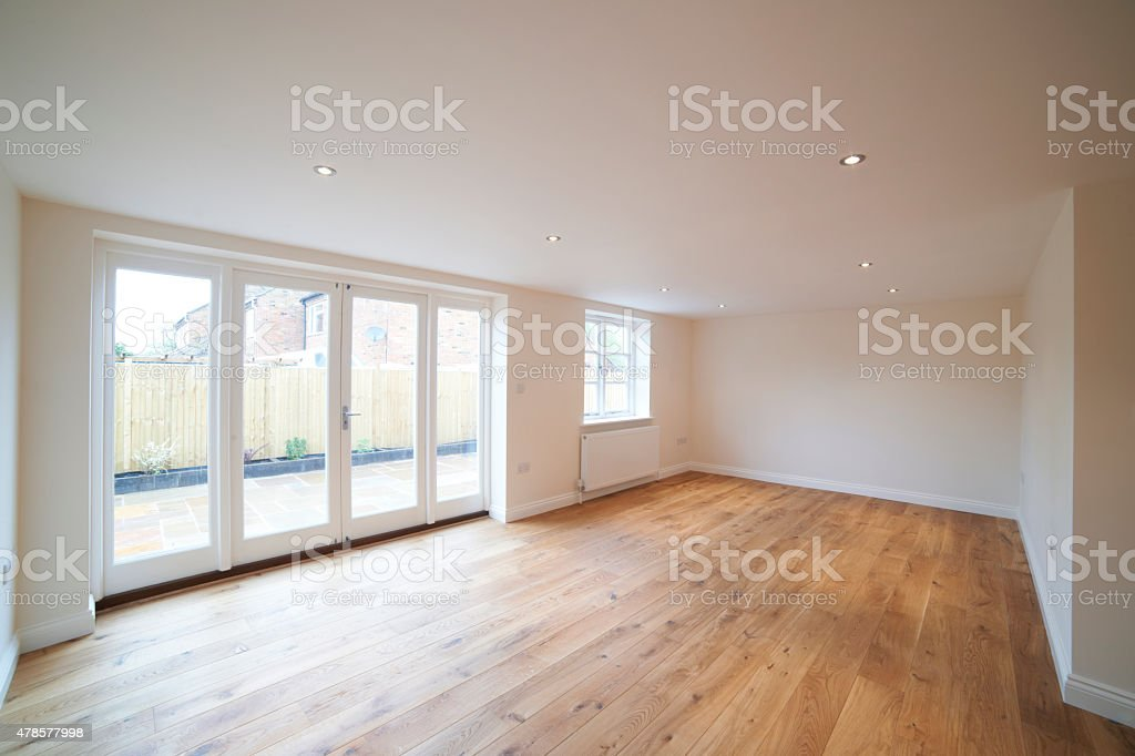 Interior Of Empty Lounge In New Home stock photo