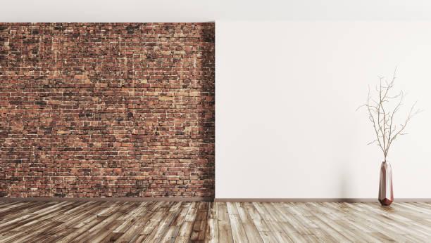 Intérieur de la salle vide fond rendu 3d - Photo