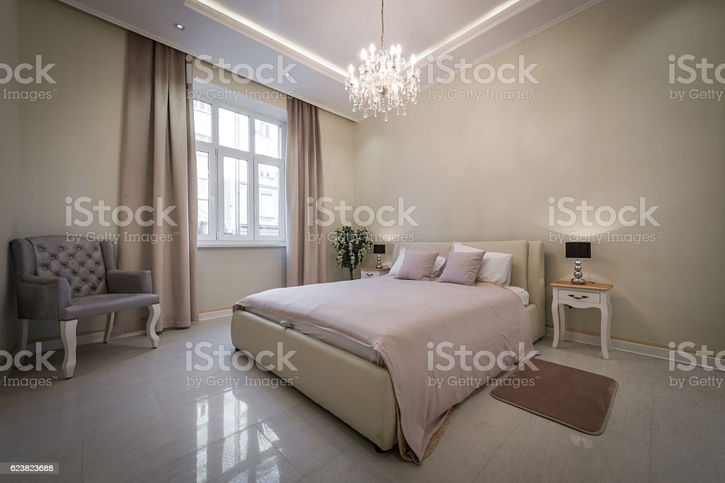 Interior Of Exclusive Bedroom In Luxury Mansion Stock Photo Download Image Now Istock,Lighting Ideas Over Dining Room Table